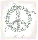 Dossier du fond EPS10 de texture de symbole de colombe de paix de style de croquis. Image libre de droits