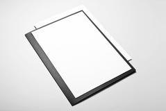 Dossier et pages de papier blanches Image libre de droits
