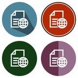 Dossier global plat d'icônes Photographie stock