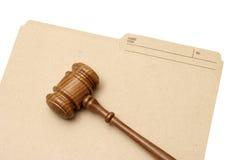 Dossier juridique Photographie stock