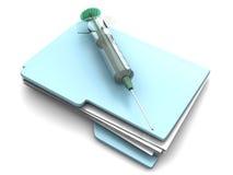 Dossier médical Photographie stock libre de droits