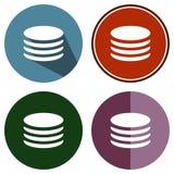 Dossier plat de cercles d'icônes Images libres de droits