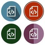 Dossier plat de code d'icônes Images stock
