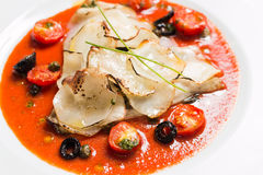 Dossier saumoné cuit au four photo libre de droits