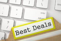 Dossierkaart met Beste Overeenkomsten 3d Stock Fotografie
