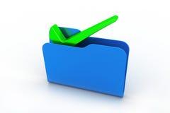 Dossieromslag met groen vinkje vector illustratie