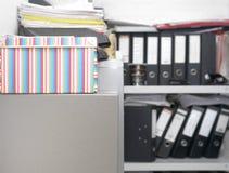 Dossieromslagen in Bureau Royalty-vrije Stock Afbeelding