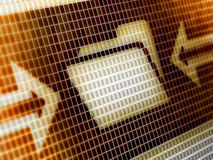 Dossierpictogram stock foto