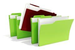 Dossiers 3d auf weißem Hintergrund lizenzfreie abbildung