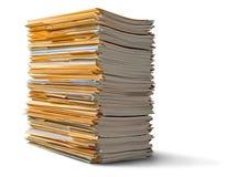 Dossiers avec des documents sur le fond Photographie stock libre de droits