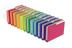 Dossiers colorés réglés d'isolement Photographie stock