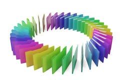 Dossiers colorés sur l'illustration blanche du fond 3D illustration libre de droits
