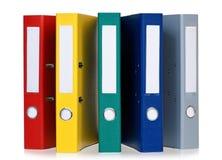 Dossiers colorés Photos libres de droits