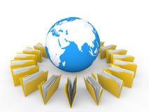 dossiers 3d et globe de la terre Photos libres de droits