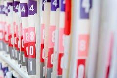 Dossiers d'hôpital photographie stock libre de droits