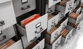 Dossiers dans le stockage Image stock
