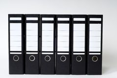 Dossiers in een rij stock foto's