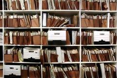 Dossiers op Plank royalty-vrije stock fotografie