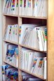 Dossiers record médicaux Image libre de droits