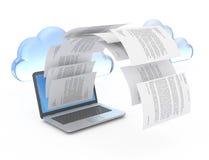 Dossiers van laptop. vector illustratie