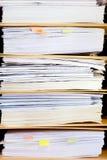 Dossierstapel, dichte omhooggaand van de dossieromslag voor achtergrond. Royalty-vrije Stock Foto's