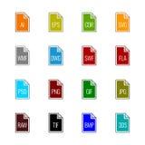 Dossiertype pictogrammen: Grafiek - de Kleur van Linne UL Royalty-vrije Stock Foto's