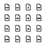"""Dossiertype pictogrammen: Websites en toepassingen†""""Bazza UL reeksen Stock Illustratie"""