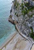 Dostęp morze, Amalfi wybrzeże, Włochy obrazy royalty free