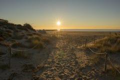 Dostęp plaża Costa Azahar w Benicasim obrazy stock