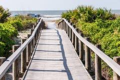Dostęp plaża i ocean Obrazy Stock