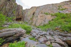 Dostęp Torghatten tunel zdjęcia stock