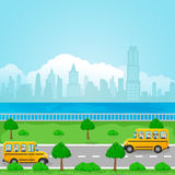 dostępne autobusu eps ilustracji szkoły wersja Obrazy Stock