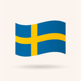 dostępne bandery stylu szkła Szwecji wektora Zdjęcie Stock