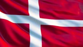dostępne Denmark flagi okulary stylu wektora Machać flagę Dani 3d ilustracja royalty ilustracja