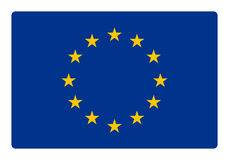 dostępne Europę flagi okulary stylu wektora Obrazy Stock