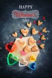 dostępny karciany dzień kartoteki valentines wektor dzień macierzysty s Kobieta dzień Ciastka w kształcie serca dla walentynki `  Zdjęcia Stock