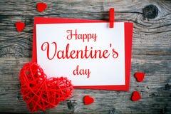 dostępny karciany dzień kartoteki valentines wektor dzień macierzysty s Selekcyjna ostrość, tło z kopii przestrzenią Obrazy Stock