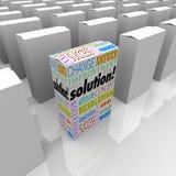 Dostępny Od Ręki rozwiązania produktu Unikalny pudełko Stoi Out Dobrze Fotografia Royalty Free