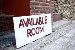 Dostępny pokoju znak na pokładzie obraz royalty free