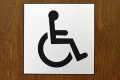 dostępny szyldowy wózek inwalidzki obraz stock