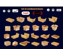 dostępnych pudełek kartonowy kartoteki setu wektor Zdjęcie Stock
