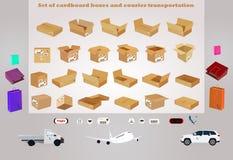 dostępnych pudełek kartonowy kartoteki setu wektor Obrazy Royalty Free