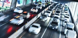 Dostęp autostrada w Bangkok podczas godziny szczytu Fotografia Stock