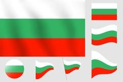 dostępne Bulgari flagi okulary stylu wektora Realistyczna wektorowa ilustraci flaga Obywatel Symb Obrazy Royalty Free