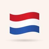 dostępne szklanych bandery niderlandów styl wektora Zdjęcie Royalty Free