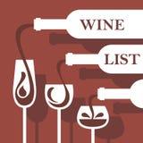 dostępny projekta listy wektoru wino ilustracja wektor