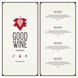 dostępny projekta listy wektoru wino Obraz Stock