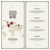 dostępny projekta listy wektoru wino Fotografia Stock