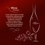 dostępny projekta listy wektoru wino Obraz Royalty Free