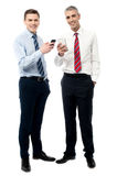 Dostać nowego mądrze telefon obraz royalty free